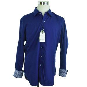NEW Robert Graham Mens Shirt XL Windsor Navy Blue